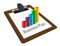 Business plan on a clipboard. Stock Photo