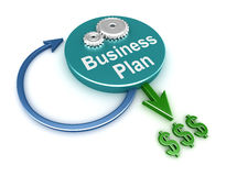Business plan concept. On white Stock Photography