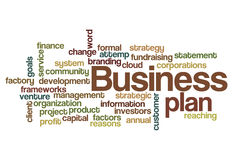 Business plan concept background Stock Image
