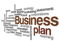 Business plan concept background Stock Photos