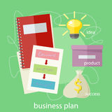 Business plan concept. Icons in flat style. Product idea. Project management and strategy Royalty Free Stock Image
