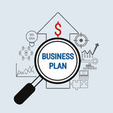 Business Plan concept with icons set. Vector Illustration Royalty Free Stock Images