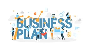 Business plan concept. vector illustration