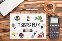 Business Plan Concept On Paper Royalty Free Stock Photography