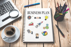 Business Plan Concept On Paper Royalty Free Stock Photo