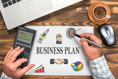 Business Plan Concept On Paper Stock Photos