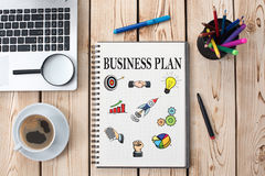 Business Plan Concept On Paper Royalty Free Stock Photos