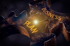 Business plan concept royalty free illustration