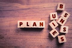Business plan concept. Piece business plan together. Business plan make your business clear royalty free stock photo