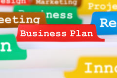 Business plan concept for success when launching a new company o Royalty Free Stock Images