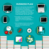 Business plan concept template vector. Royalty Free Stock Photo