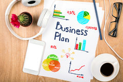 Business plan concept Stock Photos