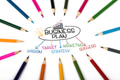 Business plan concept Royalty Free Stock Photography