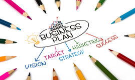 Business plan concept royalty free stock images