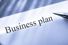 Business plan conception Stock Image