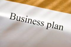 Business plan conception Stock Photos