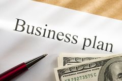 Business plan conception Royalty Free Stock Photo