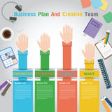 Business Plan And Creative Team. Info graphic for creative graphic design and web design. Vector Stock Photography