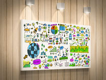 Business plan. 3d rendering colorful business plan on board Royalty Free Stock Images