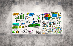 Business plan. 3d rendering colorful business plan on board Royalty Free Stock Photography