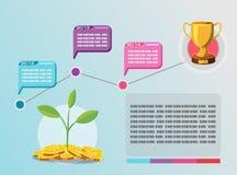 Business plan del grafico di informazioni di cronologia Immagine Stock