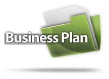 business plan dell'icona della cartella di stile 3D Immagine Stock Libera da Diritti