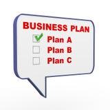 business plan di discorso della bolla 3d Immagini Stock