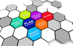 Business Plan Diagram connection beehive background. Business Plan 3D rendering Diagram connection beehive background Royalty Free Stock Photos