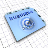 Business plan document. Process of planning ahead for success Royalty Free Stock Photos