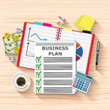 Business plan document papers Royalty Free Stock Image