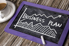 Business plan with financial chart hand-drawn Stock Photography