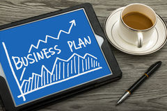 Business plan with financial chart hand-drawn Stock Image