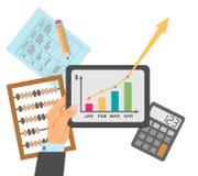 Business plan finanziario Immagini Stock