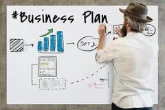 Business plan flowchart drawing sketch Concept. Business plan flowchart drawing sketch stock photos