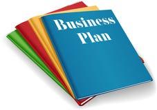 Business plan folder binders stack stock illustration