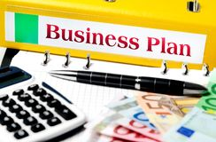 Business plan folder Stock Photography