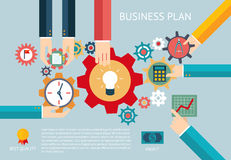 Business plan gears company team infographic work Stock Photo
