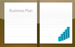 Business plan with graph Royalty Free Stock Image