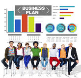Business plan graph brainstorming strategy idea info concept Royalty Free Stock Photos