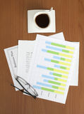 Business Plan & Graph on the Table Stock Photos