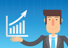 Business Plan Graph. Vector illustration Royalty Free Stock Photography