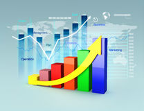 Business plan with graphs and charts Royalty Free Stock Image