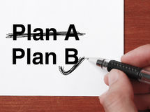"Business Plan. Hand with black ballpen is writing "" Business Plan""on white paper royalty free stock image"
