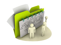 Business plan icon Stock Image