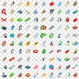 100 business plan icons set, isometric 3d style Stock Images