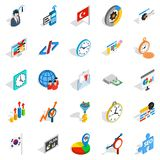 Business plan icons set, isometric style Royalty Free Stock Photo