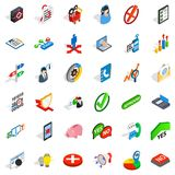 Business plan icons set, isometric style Stock Images