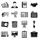 Business plan icons set, simple style Stock Image