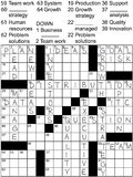 Business Plan Idea Solutions Crossword Puzzle Royalty Free Stock Photography