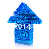Business plan for improvement in 2014 . Royalty Free Stock Images